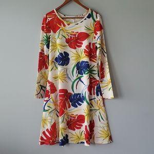 Fashion Classic Red White Floral Mini Shift Dress